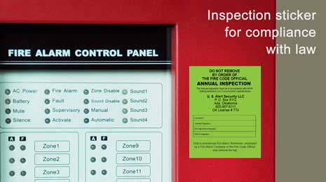 Fire alarm system testing and inspection