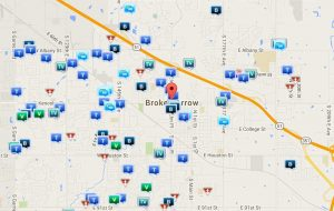 Broken Arrow Oklahoma crime map for December 2015