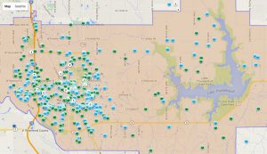 Norman OK Map of Crime in 2013