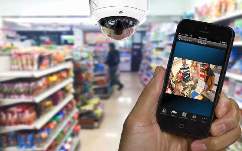 Security camera systems for video surveillance